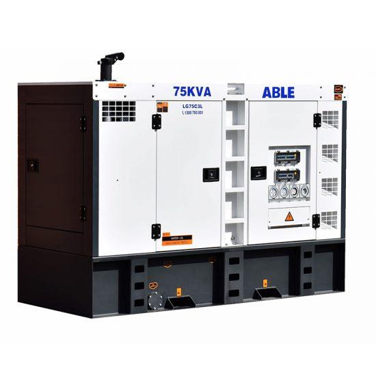 Able 82KVA Diesel Generator Trailer Mounted
